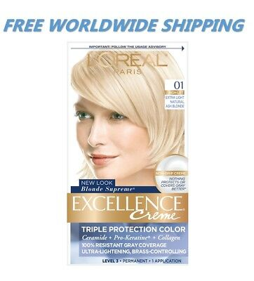 L'Oreal Excellence Creme Color 01 Extra Light Natural Ash Blonde WORLD