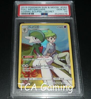 NM FULL ART Pokemon GALLADE Card COSMIC ECLIPSE Set 244//236 Sun Moon Secret Rare