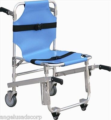 Medical Stair Stretcher Ambulance Wheel Chair New Blue Equipment Emergency
