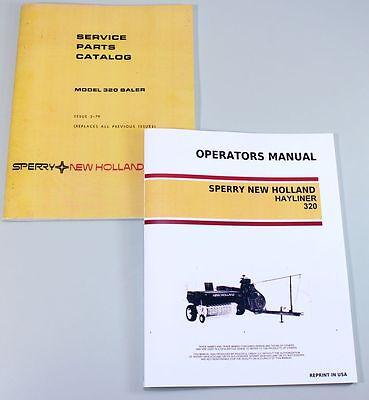 New Holland 320 Square Baler Hayliner Owner Operator Parts Manual Catalog