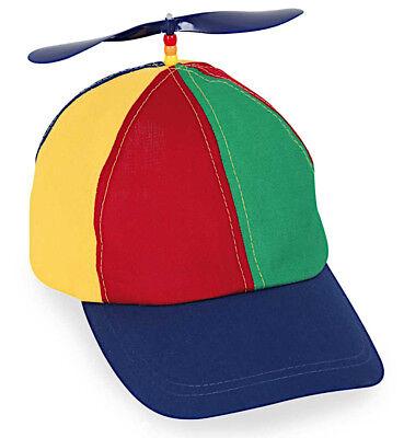 Basecap mit Propeller bunte Mütze Cappy Schirmmütze Kostüm Fasching 123898613F