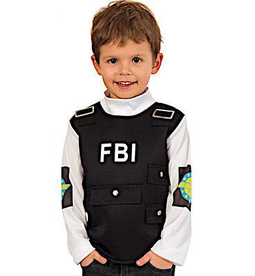 KarnevalsTeufel Kinderkostüm Oberteil FBI Officer Cop Bundespolizei - Polizei Officer Kostüm Kinder