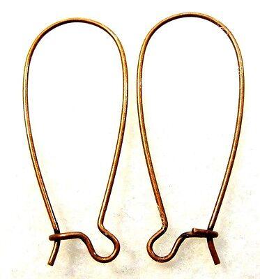 100Pcs. WHOLESALE Antique Copper 33mm Kidney Earring Hooks Tibetan Earwire Q0654