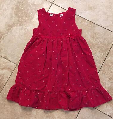 OshKosh Girls Dress Jumper Size 5 Holiday Christmas Modest Red