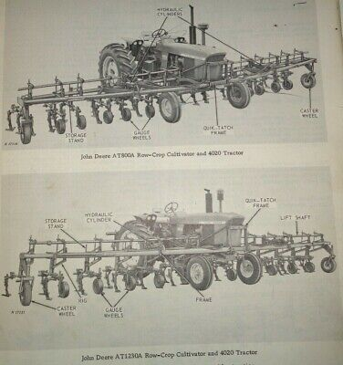 John Deere At400a To At1620a Cultivator Parts Catalog Fits 4020 More Tractors