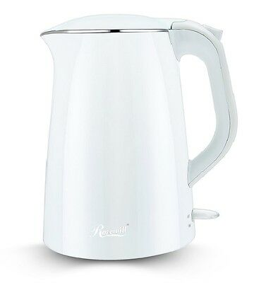 Rosewill White 1500-Watt 1.5 L Double Wall Stainless Steel Electric Water Kettle