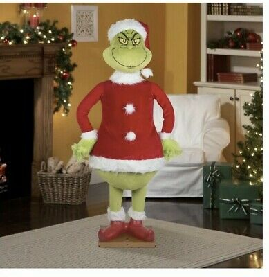 Gemmy 5.74 Ft Animated Life Size GRINCH Christmas Prop SPEAKS GRINCH PHRASES New