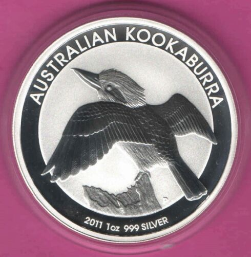 2011 Australia Silver Kookaburra 1 oz Solid SILVER $1 Coin - out of MINT ROLL