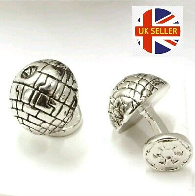 NEW Death Star 3D Cufflinks Star Wars Cuff Stud Jedi Darth Vader 🇬🇧