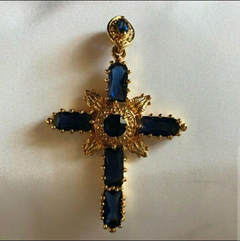 Stunning Camrose and Kross JBK Jacqueline Kennedy North Star Cross Pendant