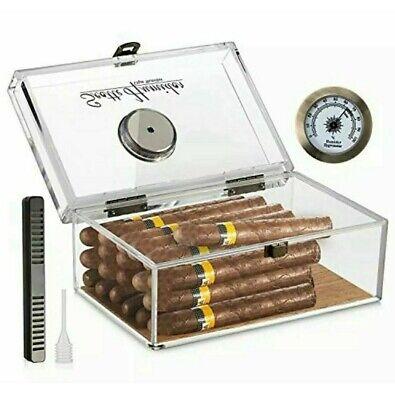 Scotte Acrylic Cigar Humidor Jar/case/Box with Humidifier and Hygrometer humidor