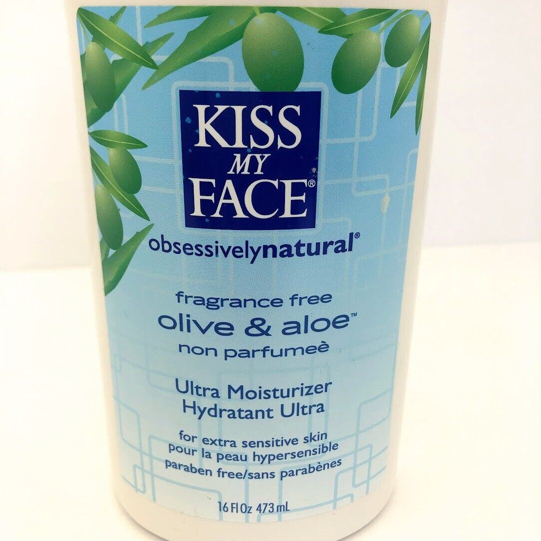 Kiss My Face Body Lotion Olive and Aloe Fragrance Free 16 oz