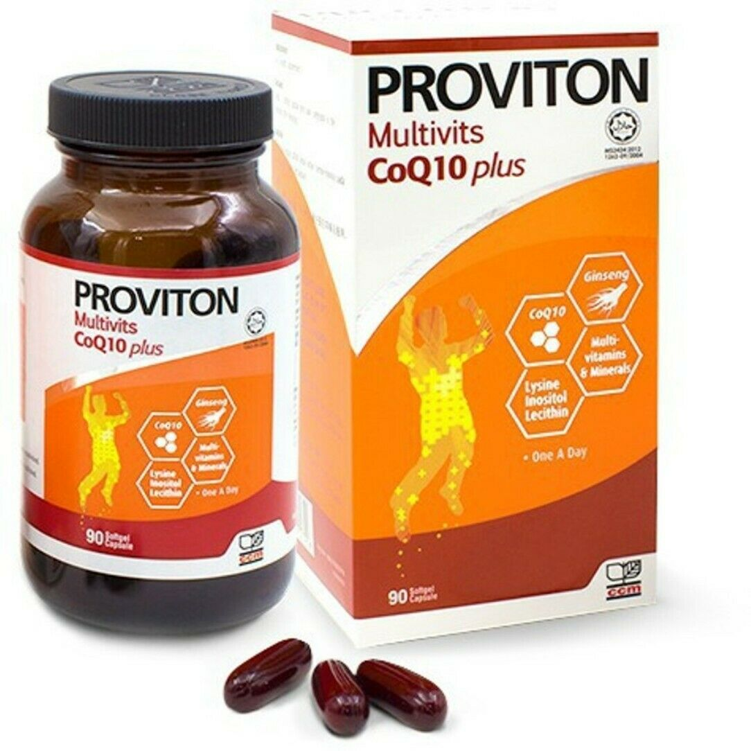 1 Bottles Proviton Multivitamins COQ10 PLUS 90'S DAILY SUPPLEMENT DHL EXPRESS 1
