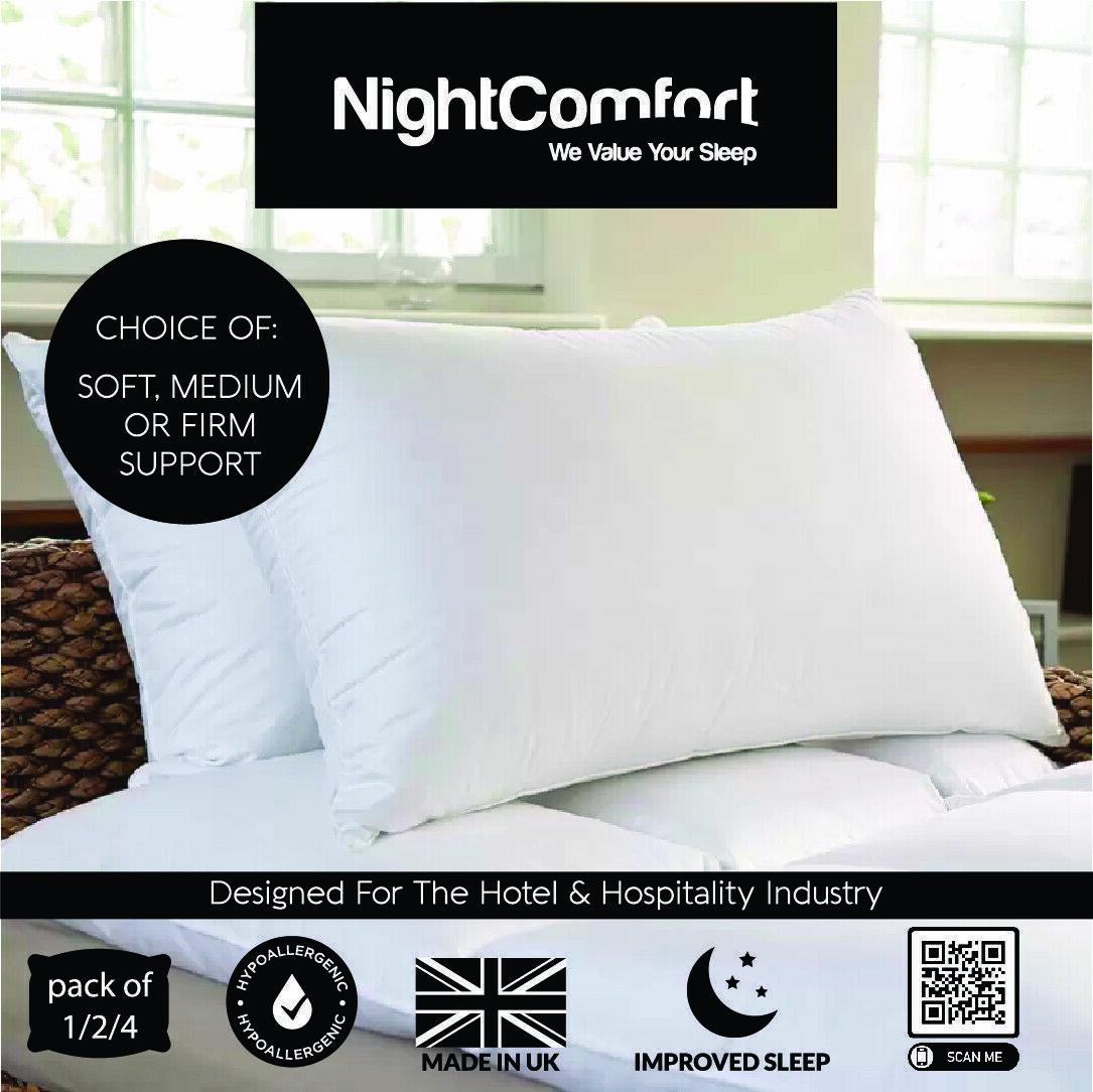 Firm Soft Anti Allergy Microfiber Soft Touch Pillows Medium