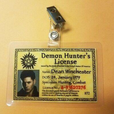 Supernatural Id Badge-Demon Hunter's Lizenzierte Dean Winchester Kostüm - Demon Hunter Kostüm