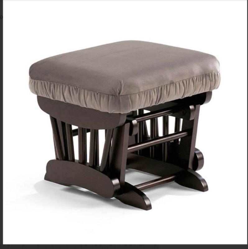 Best Chairs Inc Story Time Series Geneva Glide Ottoman Caviar Velvet