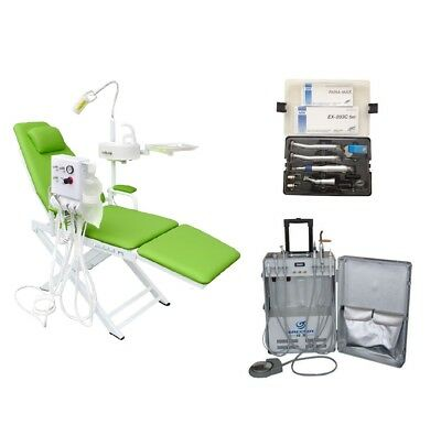 Dental Chair With Turbine Unit Portable Unit With Air Compressor Handpiece 2h