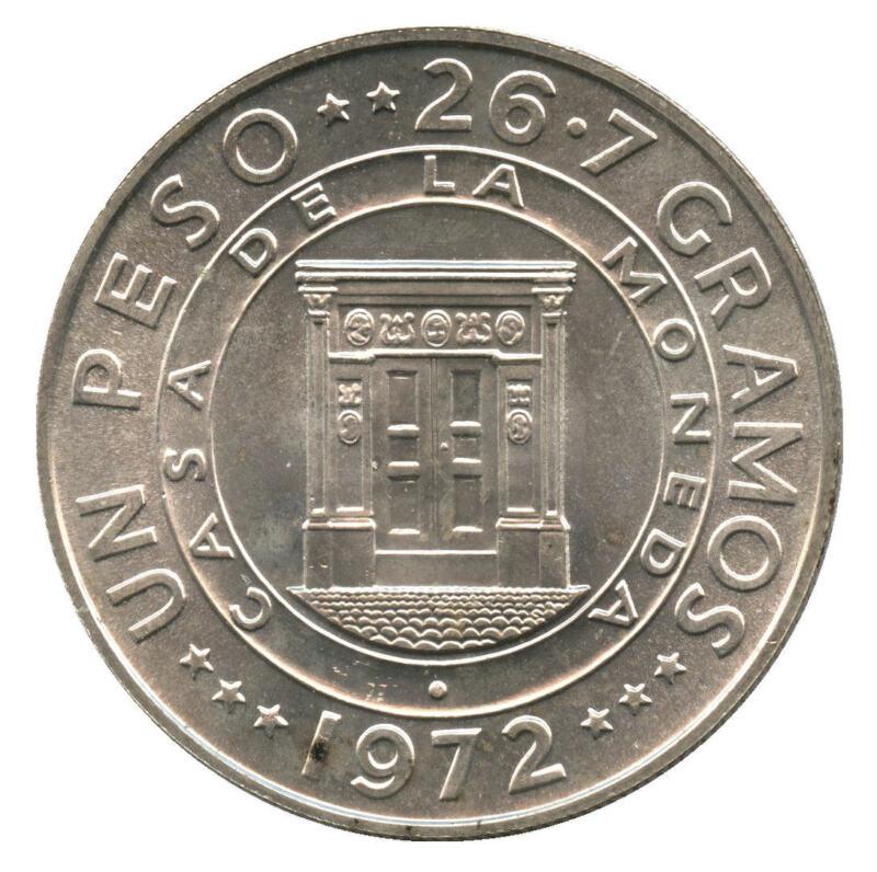 1972 Dominican Republic Silver 1 Peso