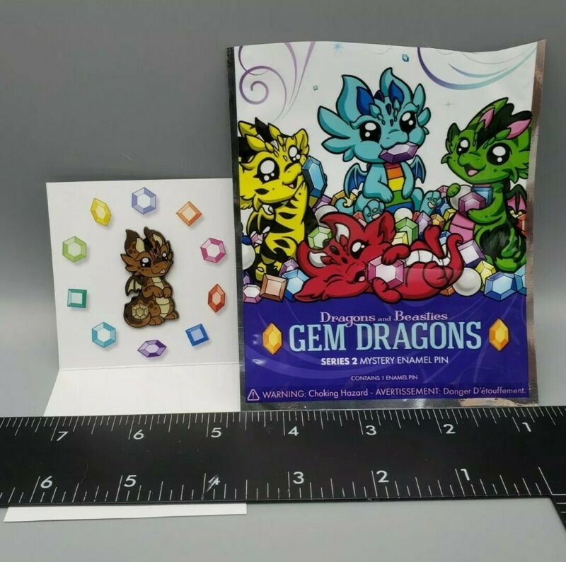 Dragons And Beasties Gem Dragon Series 2 Mystery Enamel Pin Cocoa NEW