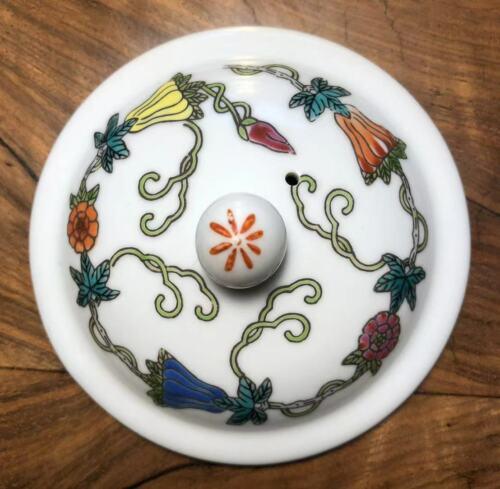 Lid for Chinese Porcelain Tea/Coffer Mug, Melon and Floral 70's (景德镇70年代瓜瓞绵绵杯盖)