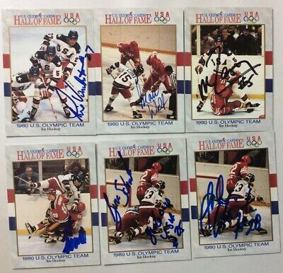 1992 US OLYMPIC CARDS HALL OF FAME 1980 US OLYMPIC ICE HOCKEY TEAM SIGNED