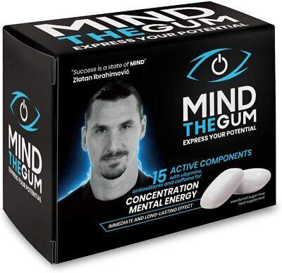 MIND THE GUM - Integratore Alimentare - 1 x Confezione da 36 Chewing Gum