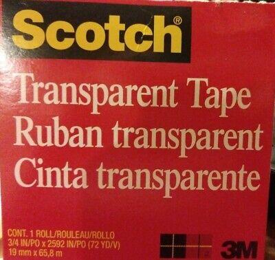 Scotch 3m Transparent Tape 600 34 X 2592