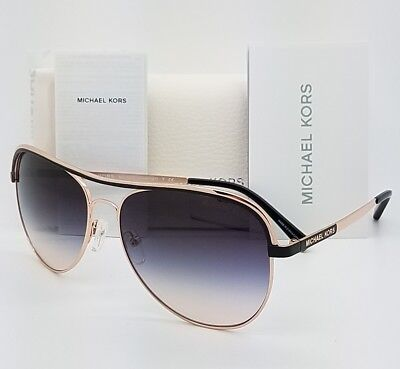 New Michael Kors sunglasses MK1012 110836 58mm Rose Gold Aviator 1012 Vivianna I