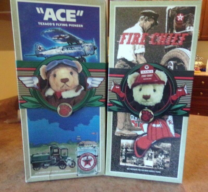 "1998 & 1999  TEXACO bears ""ACE"" & ""FIRE CHIEF""   NIB"