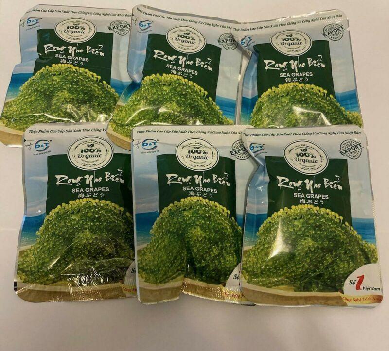 Pack of 6 - Organic Sea grape - Rong Nho Bien - Product of Vietnam 25gr/ bag