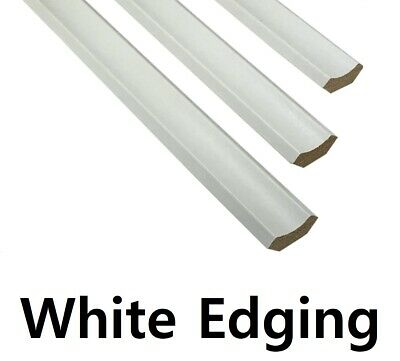 White Scotia Beading Molding - 10 Pieces - 1.2metre Lengths - Floor Edging Strip