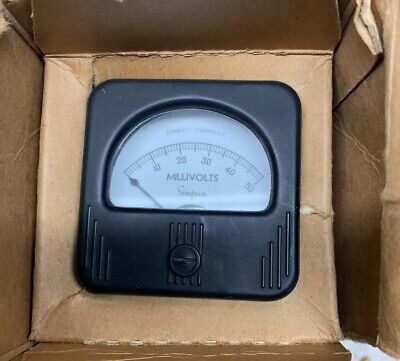 New Simpson Electric Panel Meter Model 127 Direct Current 0-50 Millivolts