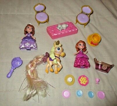 Disney Princess SOFIA the FIRST Figure Lot Pony Horse Bunny Rabbit & Accessories](Sofia First)