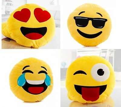 CUSCINO EMOTICON EMOJI PILLOW FACCINE DIAMETRO 30 CM IDEA REGALO