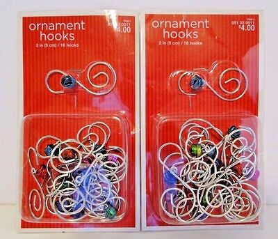 32 pcs Silver Swirl and Bell Decorative Christmas Tree Ornament Hooks Hangers