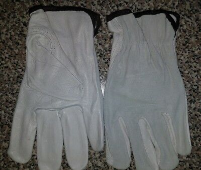 Mens Work Gloves Durable Leather Work Gloves 4 Pair Large