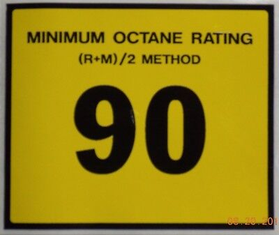 Gilbarco Veeder-root Advantage Dispenser 90 Octane Decal Wayne Tokheim