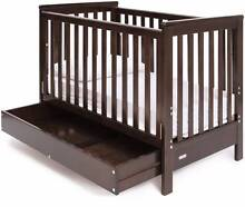 GROTIME HARRIET 4 in 1 Cot with drawer (Walnut) +GROTIME Mattress Marsfield Ryde Area Preview