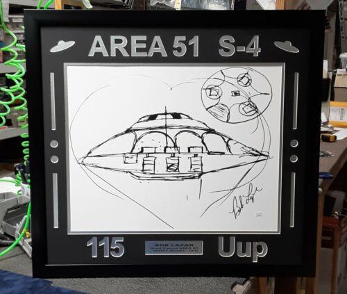 "Area 51 ""Sport Model"" UFO 115 Uup (Custom Frame ONLY) NO PRINT  fits Bob Lazar"