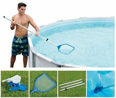 Summer Waves Above Ground Swimming Pool Maintenance Skimmer Vacuum Cleaner Kit W