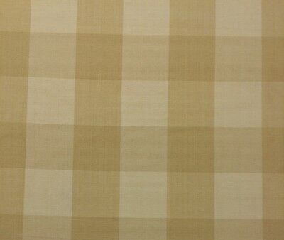Ballard Designs Buffalo Check Wheat Cream Checker Multiuse Fabric By The Yard
