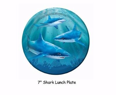 Shark Plates, Birthday Party Supplies, Jaws Realistic, 16p - 7