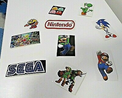 Various Arcade Game Characters & Makers Stickers (Choose From Drop Down)