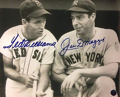 JoeDimaggio and Ted Williams Autographed signed 8x10 photo reprint