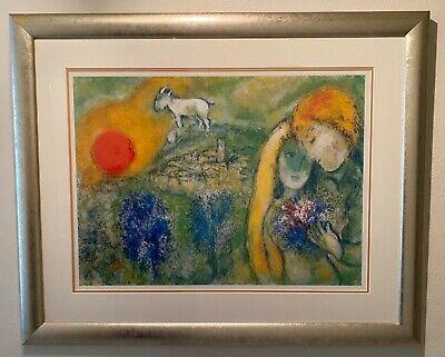 FRAMED PRINT Marc Chagall LES AMOUREUX DE VENCE