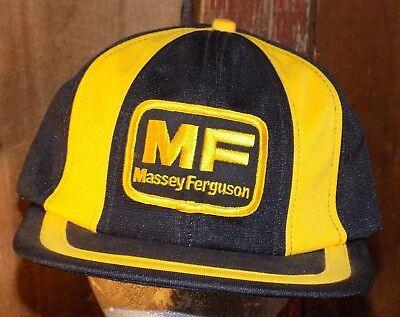 Massey Ferguson Farmer Tractor Patch Snapback Trucker Hat Cap Baseball Vtg for sale  Shipping to India
