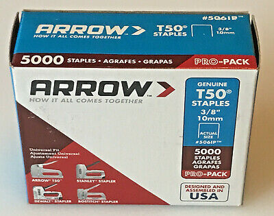 Arrow Fastener Heavy Duty Staples 5,000 - Pack  3/8