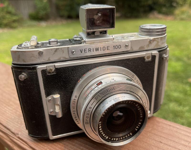 Brooks Plaubel Veriwide 100 Camera With E Leitz Finder Schneider 47mm