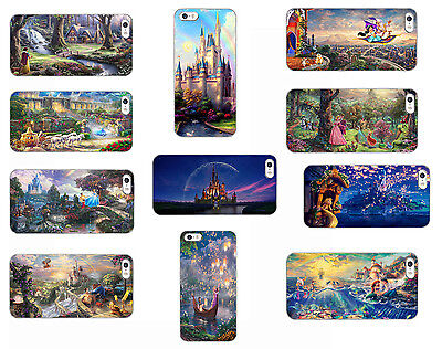 Disney Tangled Belle Ariel Cinderella hard back phone case iphone Samsung HTC