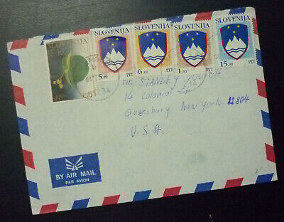 Slovenia 1992 Cover Sent from Kranj to USA - Us Airmail  AE14